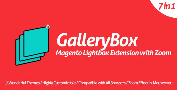 Gallerybox plugin magento pour partage sliders