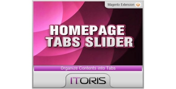 Homepage tabs slider plugin magento pour page accueil