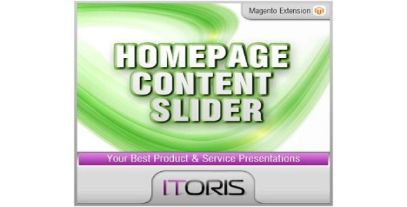 Homepage content slider plugin magento pour page accueil 1