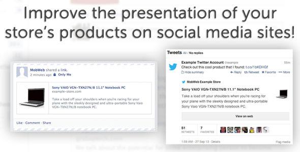 Improved social media presentation plugin magento pour partage social
