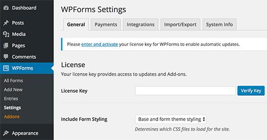 Installation wpforms sur wordpress