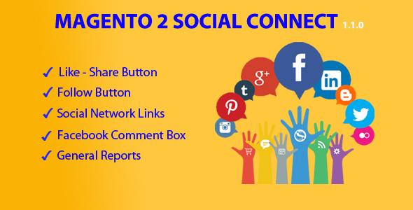 Magento 2 social connect plugin magento pour partage social