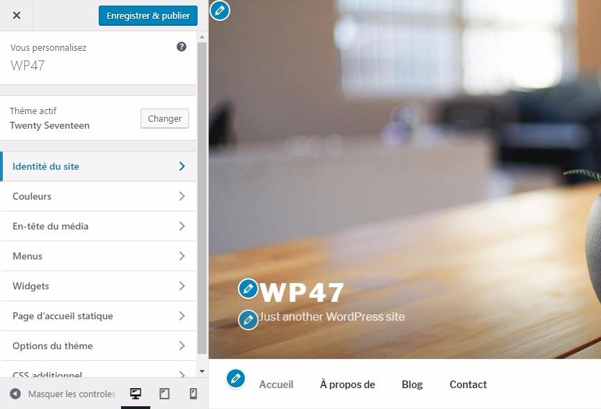 Wordpress 47 personnalisation