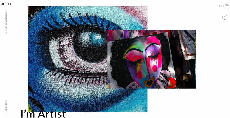 Albert themes wordpress creer site web portfolio agence creative