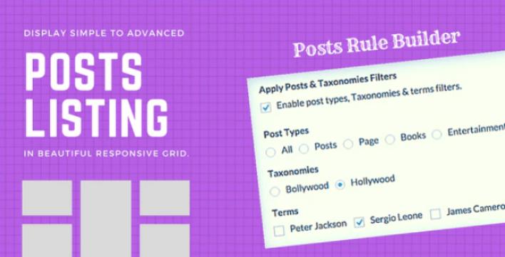 Advanced posts grid for wordpress plugin