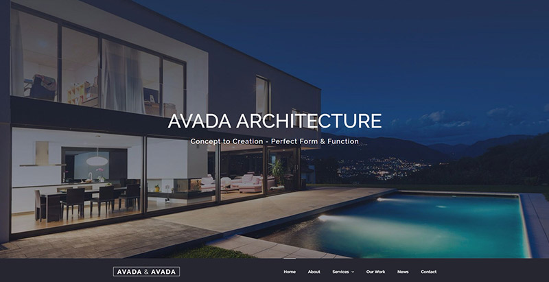 Avada themes wordpress creer site web architecte architectes architecture