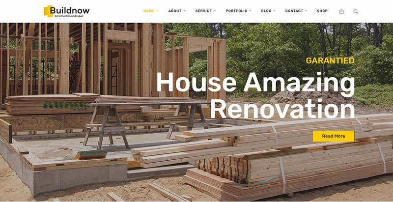 th mes wordpress pour site web d 39 entreprise de construction blogpascher. Black Bedroom Furniture Sets. Home Design Ideas