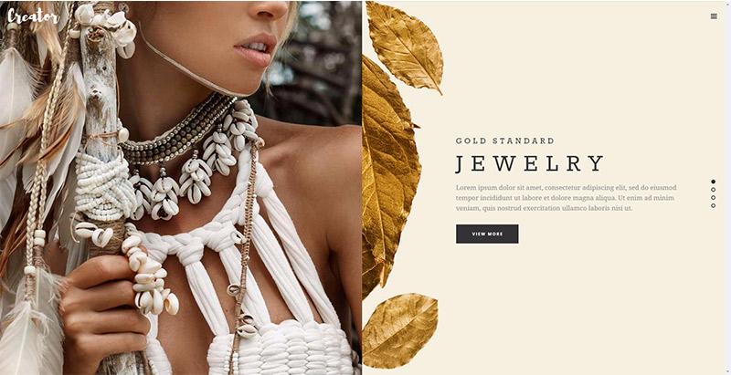 Creator themes wordpress creer site web vendre bijoux bijouterie joaillerie