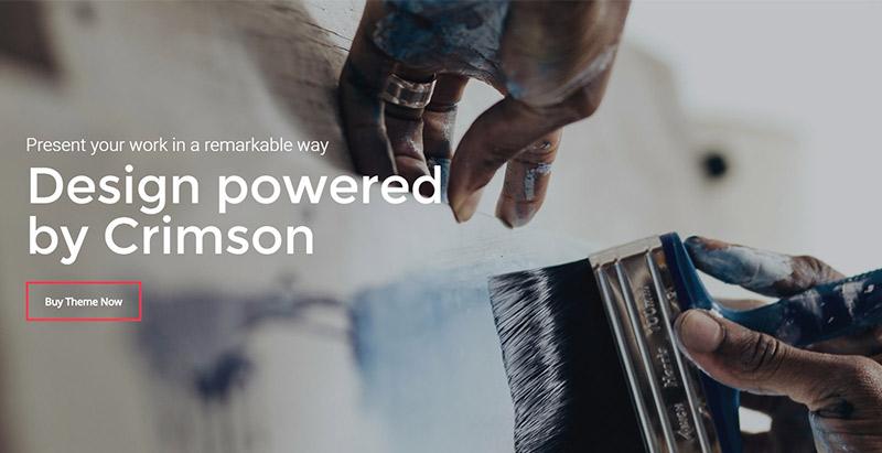 Crimson themes wordpress создать сайт портфолио агентство креатив