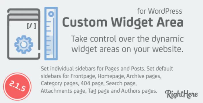 Custom widget areas for wordpress plugin