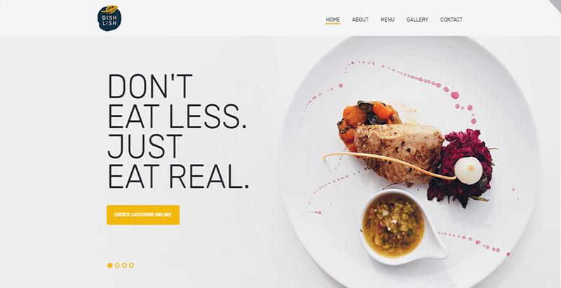 Dishlish theme wordpress creer site web restaurant