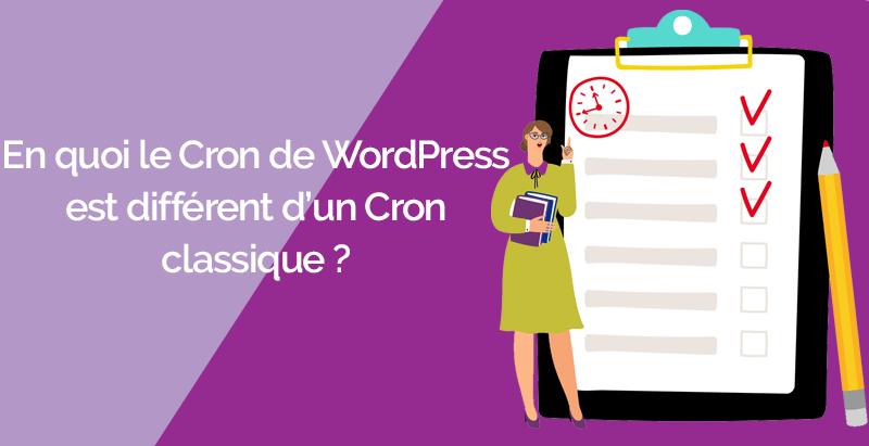 En quoi cron wordpress différent cron classique
