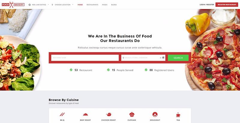 Foodbakery themes wordpress creer site web restaurant café resto