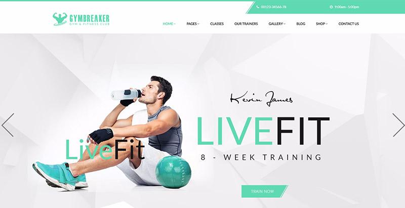 Gymbreaker themes wordpress creer site web club fitness
