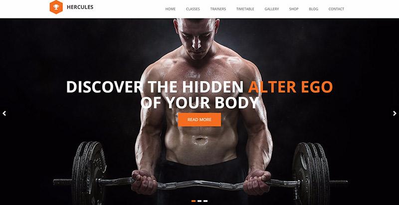 Hercules themes wordpress create fitness club website