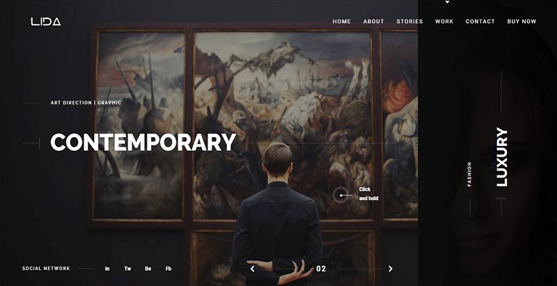 Lida Thème Wordpress Créer Site Web Portfolio