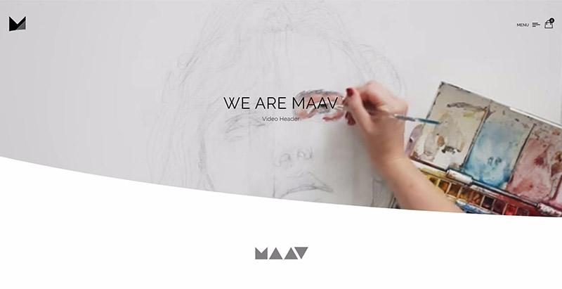 Maav themes wordpress создать сайт портфолио агентство креатив