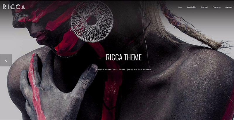 Ricca themes wordpress creer site web agence creative