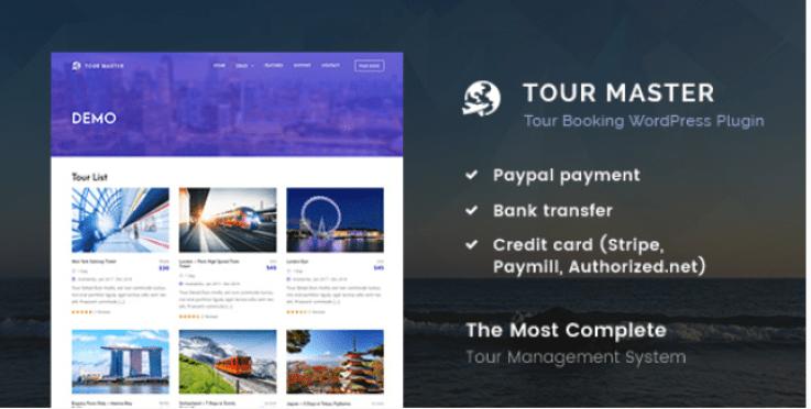Tour master tour booking travel plugins wordpress site web voyages