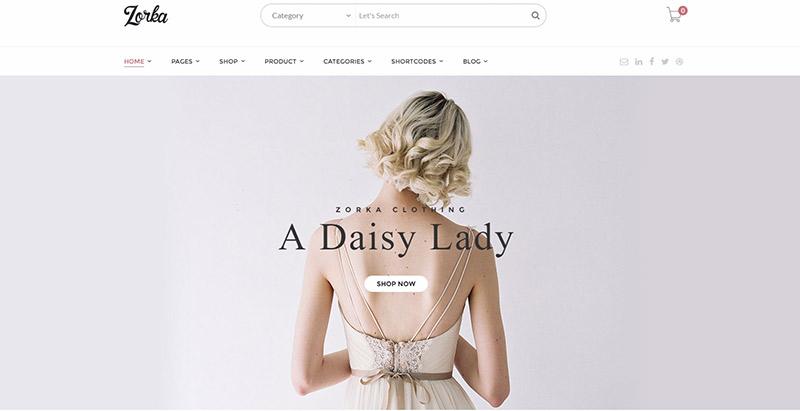 Zorka themes wordpress creer boutique en ligne ecommerce woocommerce
