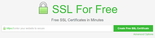 Certificat gratuit ssl for free