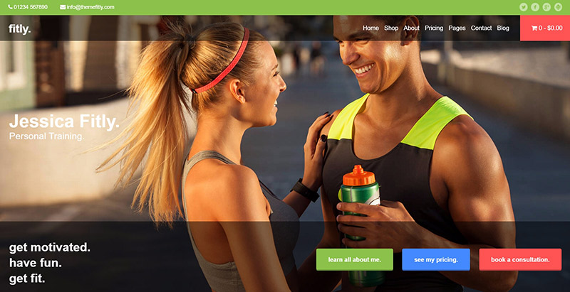 Fitly themes wordpress creer site web club fitness