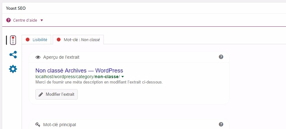 Chỉnh sửa từ khóa danh mục trên wordpress với yoast seo
