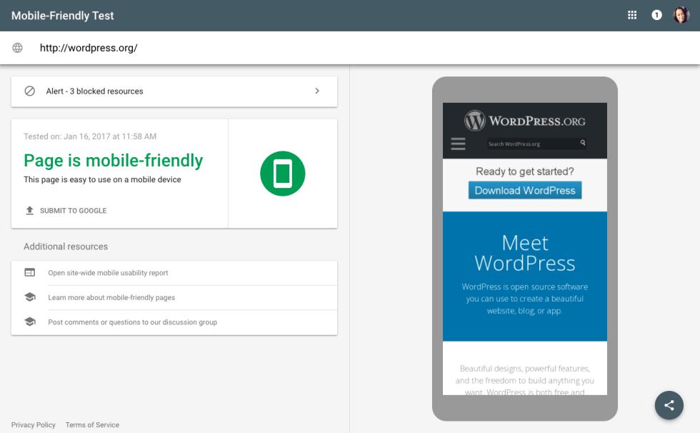 Page mobile friendly tutoriel wordpress