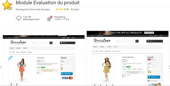 Product ratings plugin prestashop pour évaluation