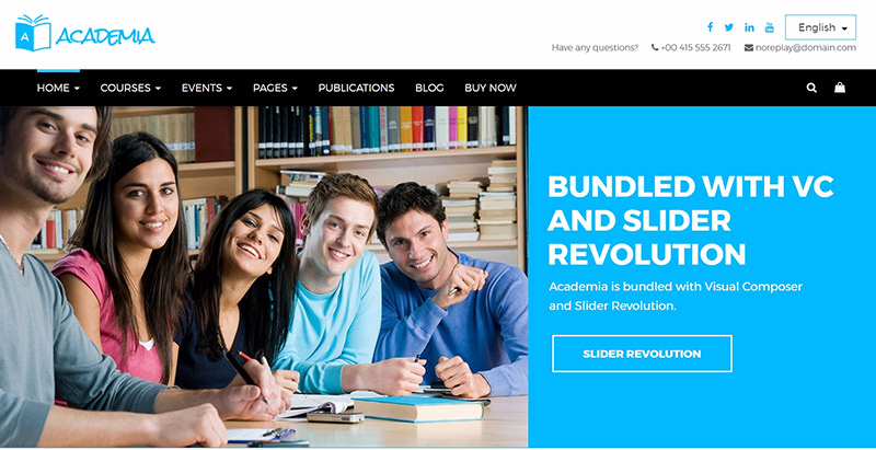 Academia themes wordpress creer site web elearning education enseignement apprentissage