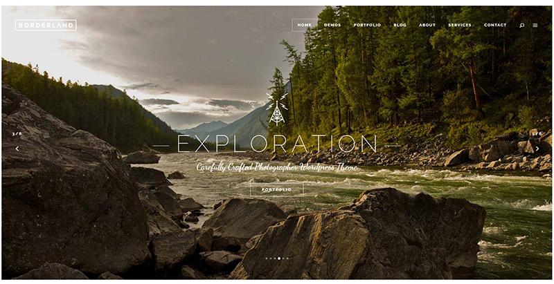 Borderland Themen WordPress Look Retro Vintage erstellen Website Agentur kreativen Fotografen