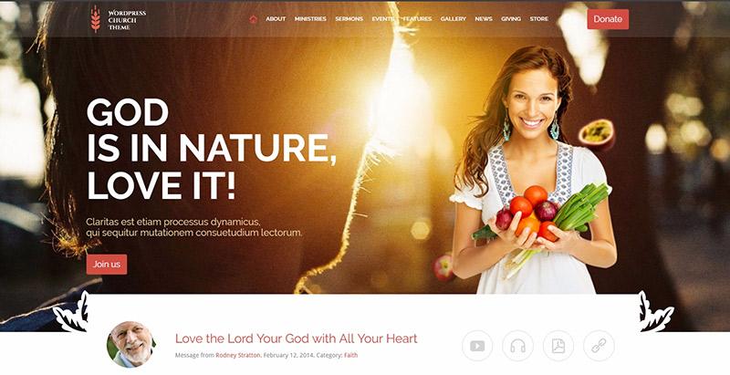 Church eventsthemes wordpress creer site web eglise religion