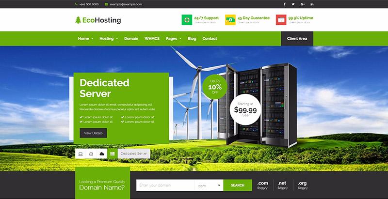 Echohosting themes wordpress creer site entreprise hebergement web