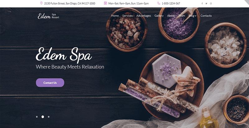 Edem theme wordpress creer site web spa