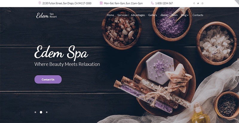 Edem theme wordpress creer site web spa