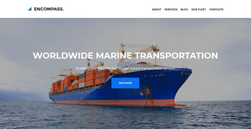 créer un site web de transports - Encompass