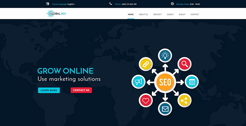 Global seo themes wordpress creer site web optimise referencement marketing seo