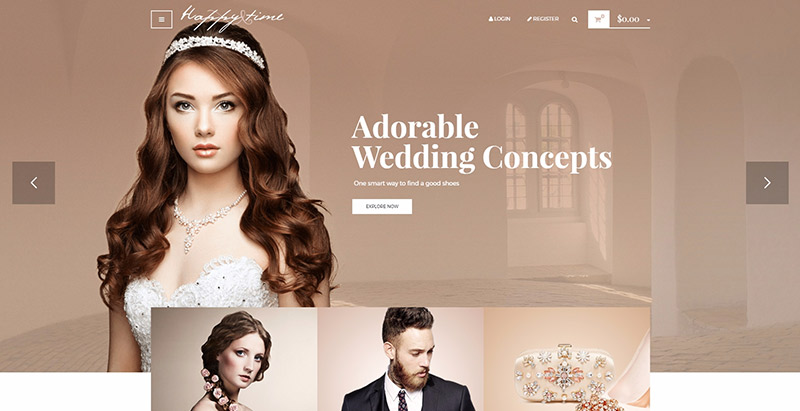 Happytime themes wordpress creer boutique ligne vetements ecommerce woocommerce