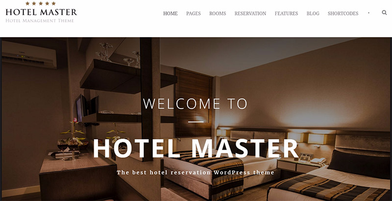 Hotel master themes wordpress creer site web hotel 1