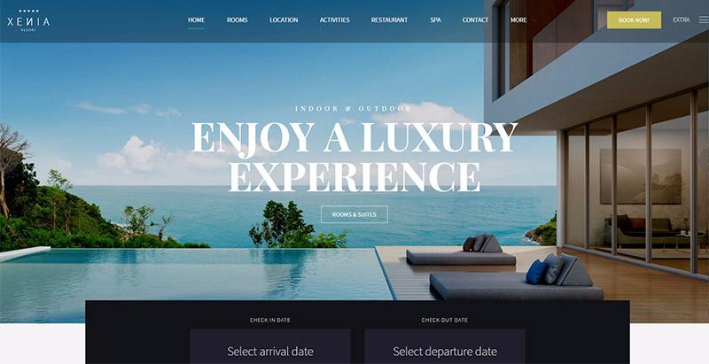 Hotel xenia themes wordpress creer site web hotel 2