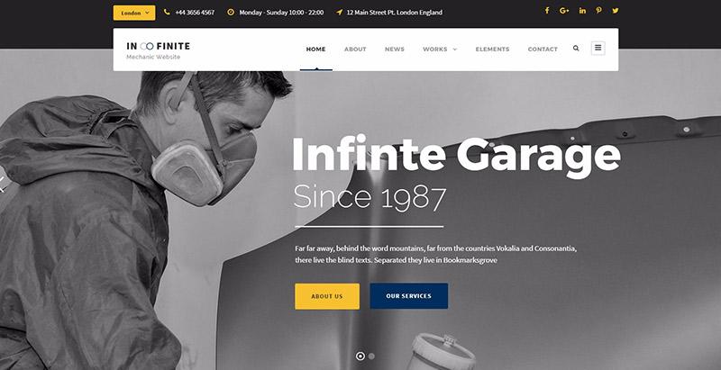 meilleur thème WordPress pour créer un site Web d'entreprise - Infinite