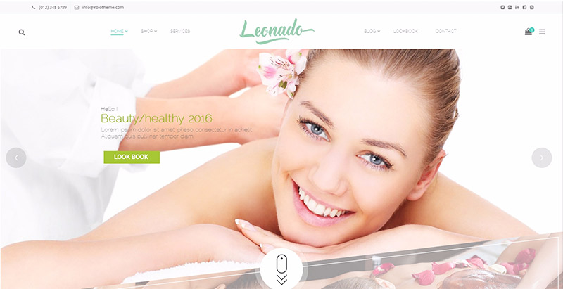 Leonado themes wordpress creer site web spa salon beaute massage