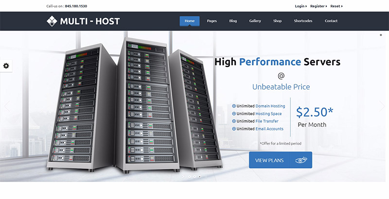 Multihost themes wordpress creer site web entreprise hebergement web