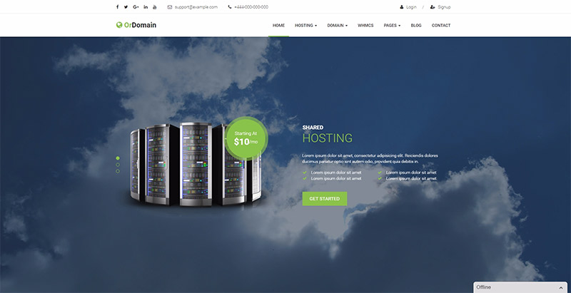 Ordomain themes wordpress creer site entreprise hebergement web