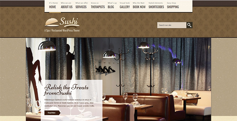 Spa treats themes wordpress creer site web hotel blogpascher for Site web pour hotel