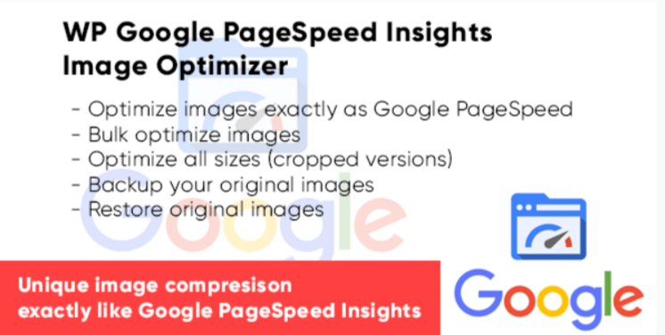 Wp google pagespeed insights image optimizer