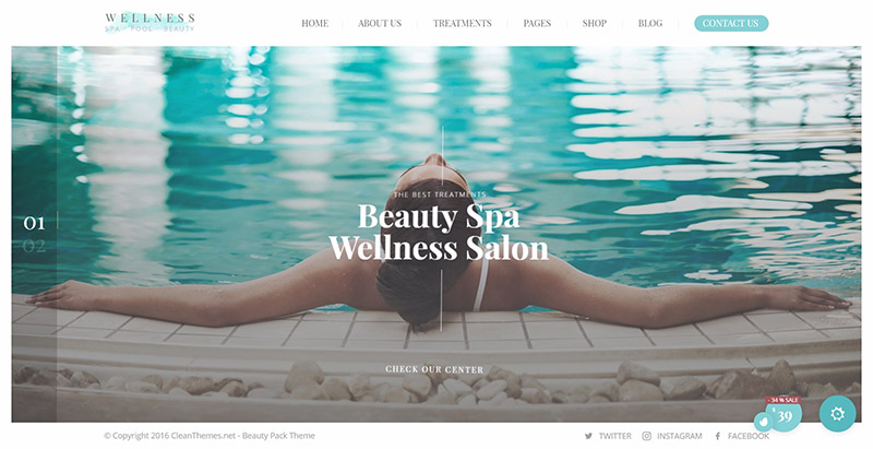Wellness Center Themes Wordpress Creer Site Web Spa Salon Beaute Massage