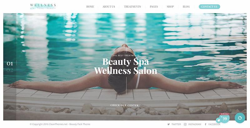 Wellness center themes wordpress creer site web spa salon beaute massage