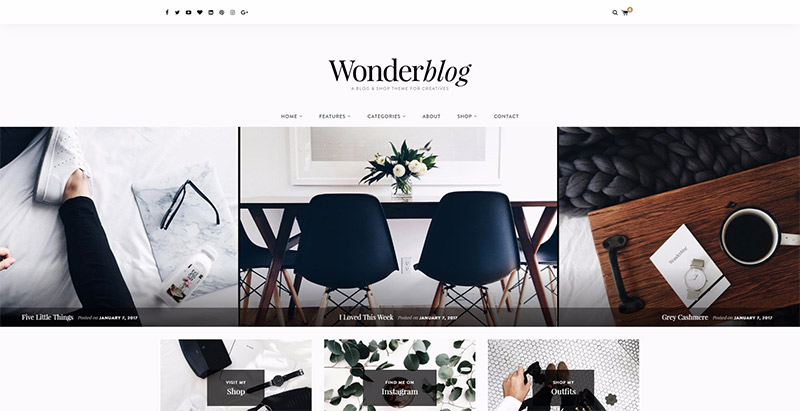 Wonderblog Themes Wordpress Creer Blog Tendances