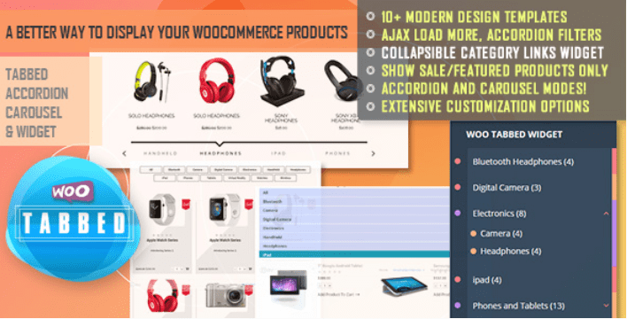 Woocommerce tabbed category product listing pro 1